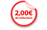 2,00 € de réduction